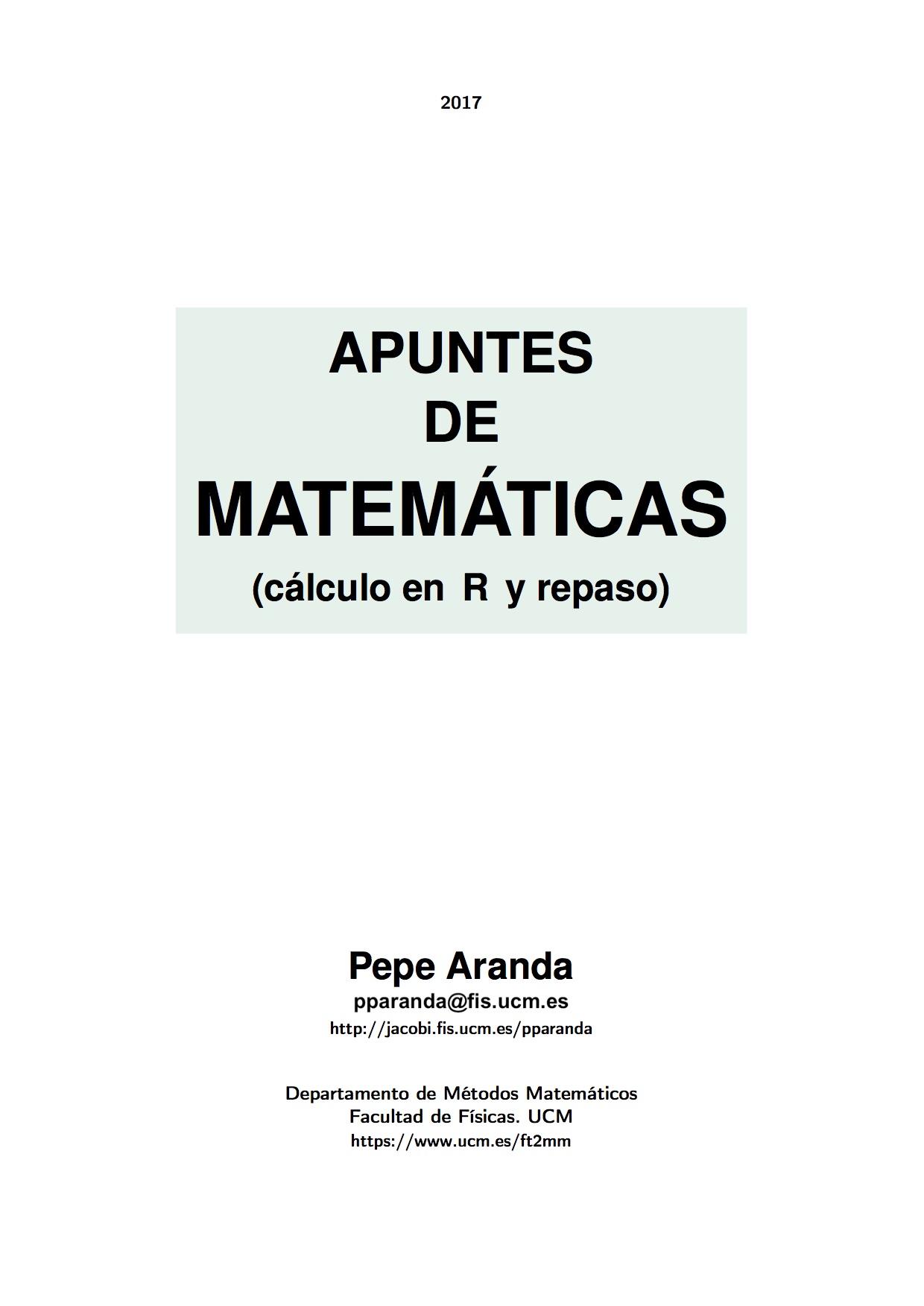 Cálculo-Matemáticas - Pepe Aranda